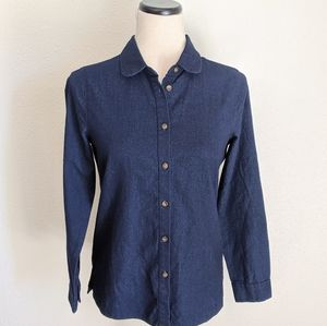 NWT Madewell Denim Chambray Button Down Top